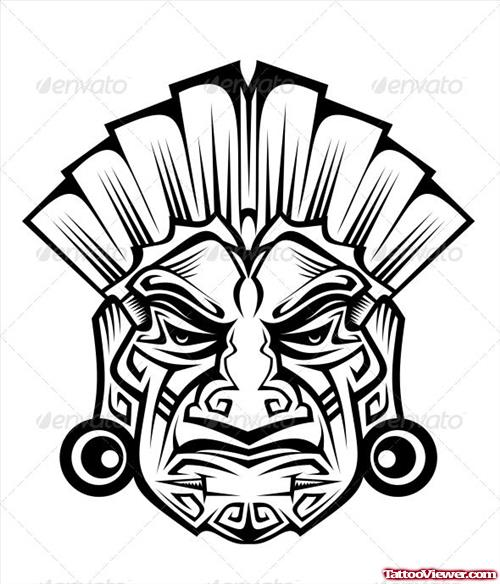 Black Tribal African Tattoo Design