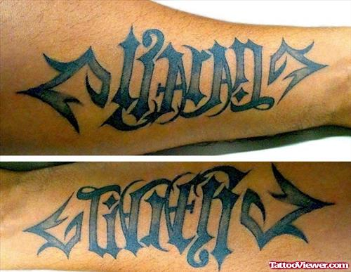 Tribal Ambigram Tattoo