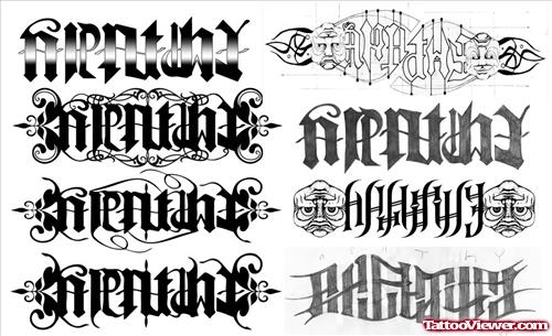 Special Ambigram Tattoos Designs