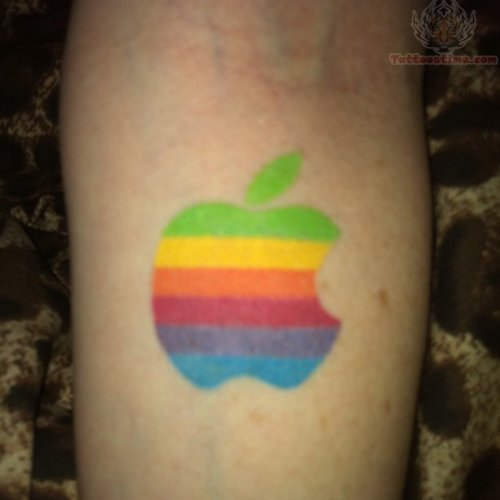 Apple Tattoo With Color Inks