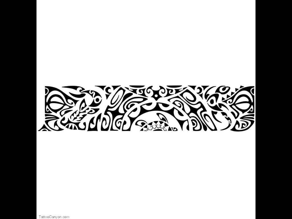 Latest Maori Tribal Armband Tattoos Designs