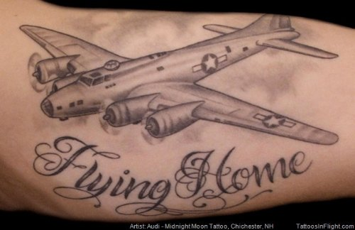 Flying Home Army Tattoo