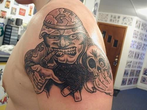 Deadly Soldier Tattoo