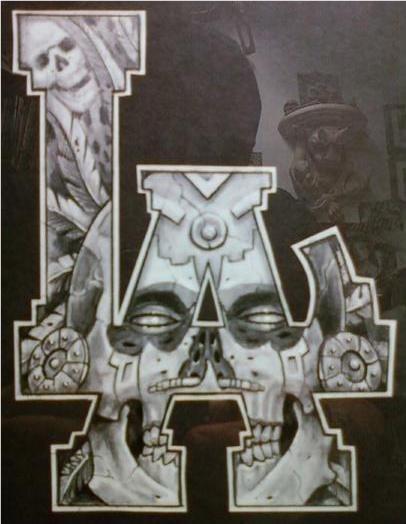 Aztec Skulls Tattoo
