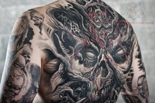 Skull Tattoo On Back