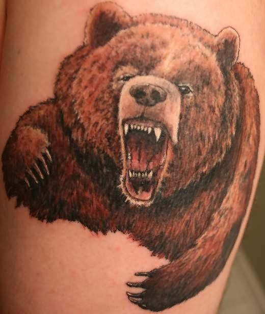 Very Angry Bear Tattoo