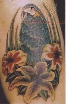 Elegant Bird Tattoo
