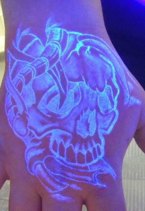 Amazing Blacklight Tattoo