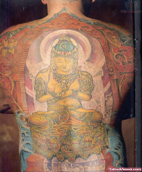 Buddha Back Body Tattoo