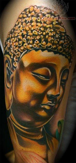 Buddha Portrait Tattoo