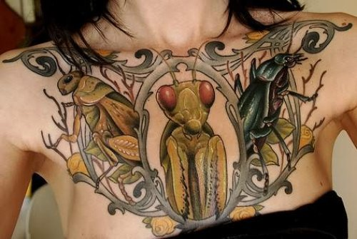 Bugs Tattoo Design On Chest