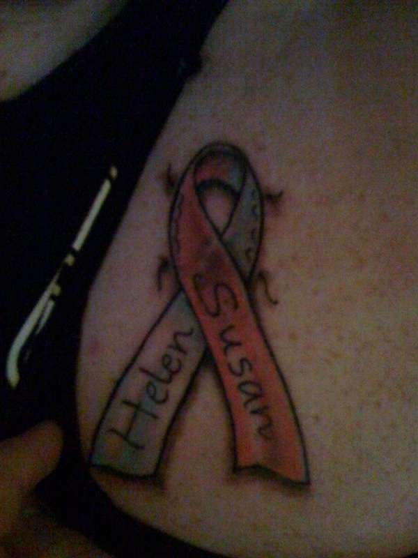 Helen Susan Ribbon Cancer Tattoo