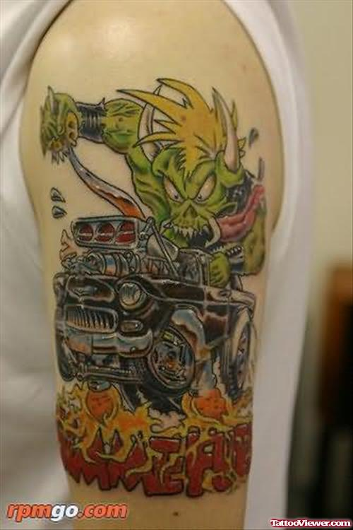 Funny Car Tattoo