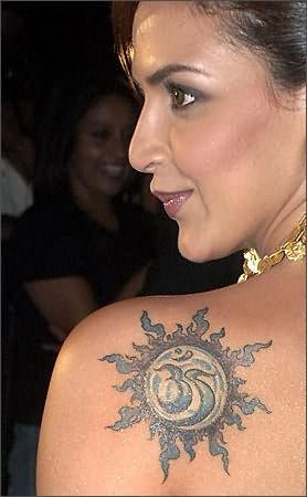 Religious Tattoo On Esha Deol Shoulder