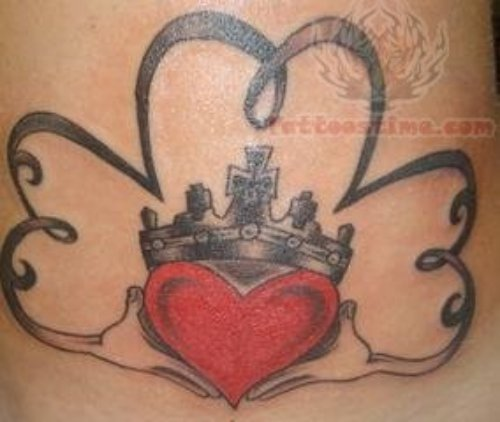 Red Heart Claddagh Tattoo