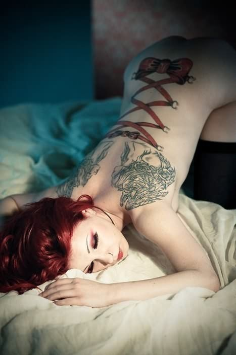 Corset Tattoos For Back Body