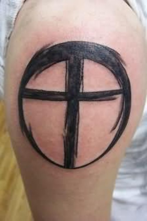 Simple Cross Tattoo