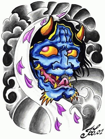 Japanese Devil Tattoo Design