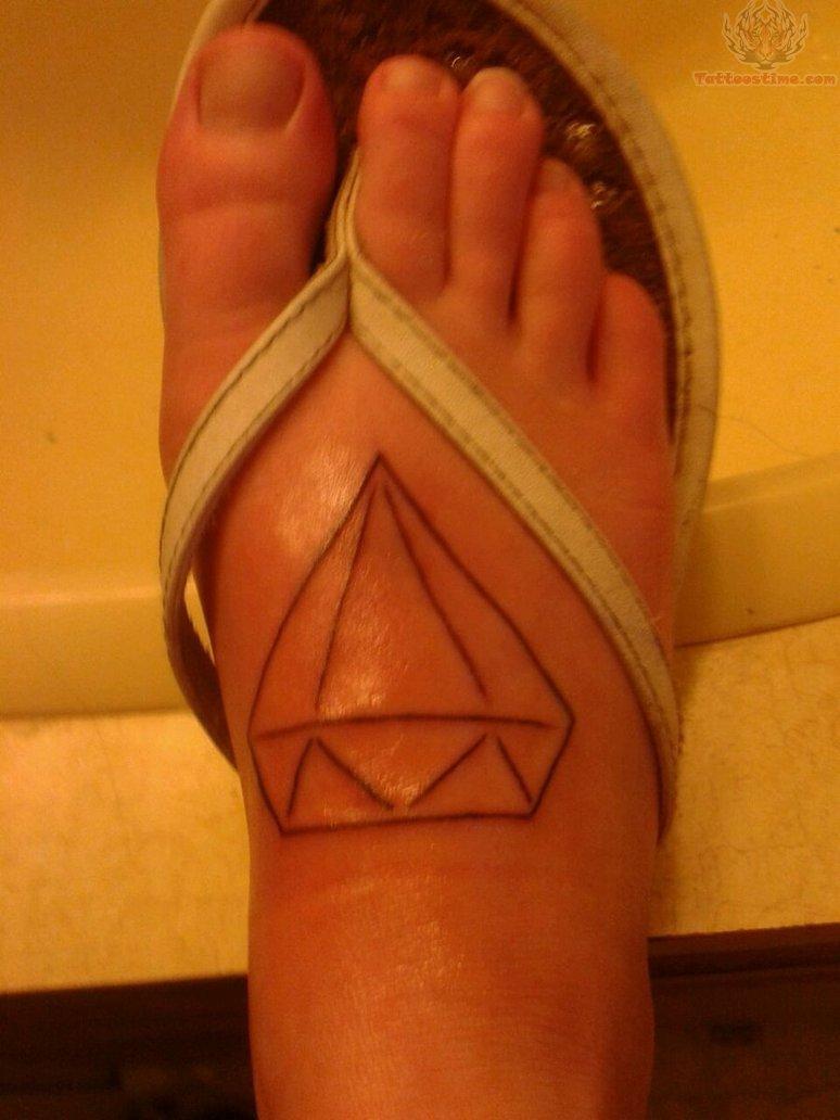 Diamond Crystal Foot Tattoo