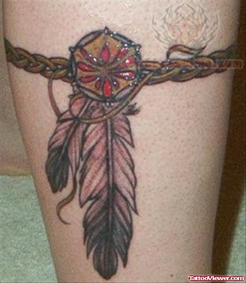 Dream Catcher Tattoo Design On Bicep