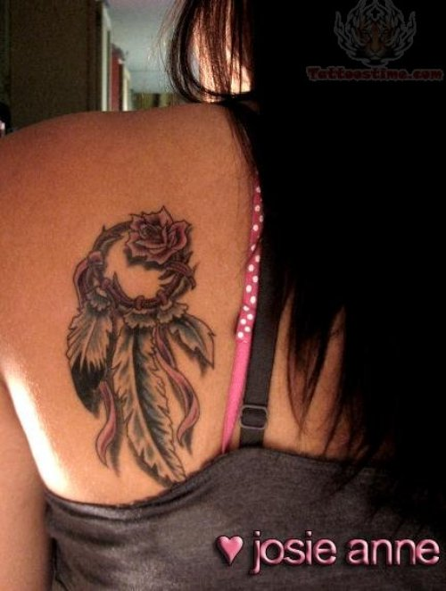 Dream Catcher Tattoos For Back Shoulder