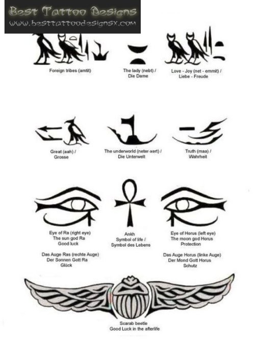 Latest Egyptian Tattoos Designs