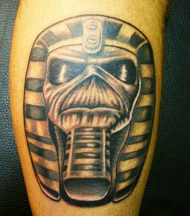 Egyptian Tattoo On Leg