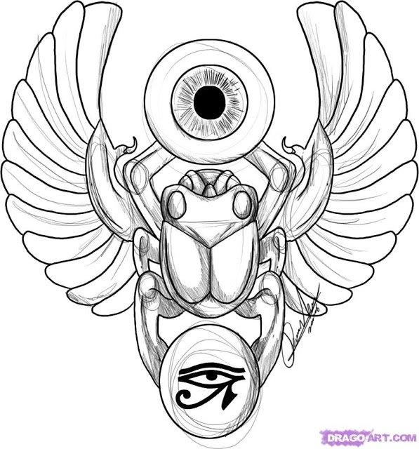 Amazing Egyptian Tattoo Design