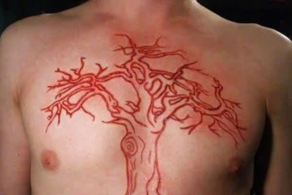 Tree Tattoo On Chest