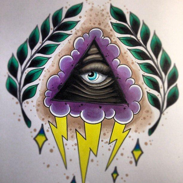 Eye Of Eye Color Tattoo Design