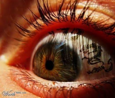 Inner Eye Dragon Tattoo