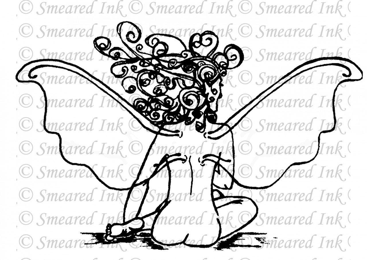Outline Fairy Tattoos Design