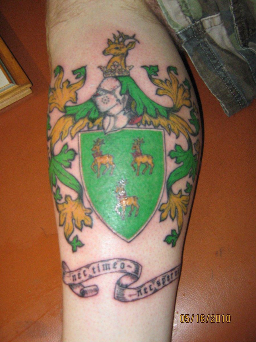 Cute Irish Family Crest Tattoo