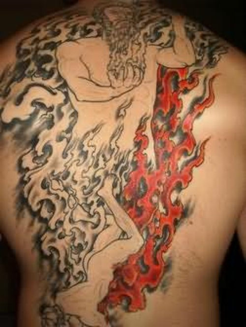 God Of Fire And Flame Tattoo