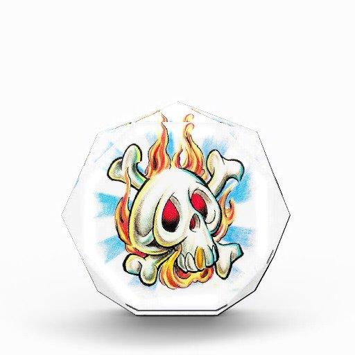 Best Fire Flame Skull Tattoo Design