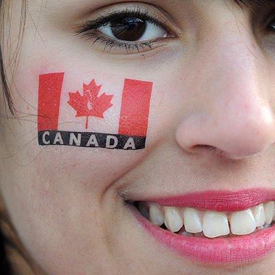 Canada Flag On Cheek