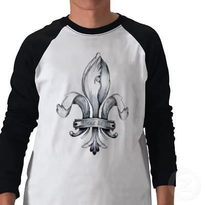 Fleur De Lis Tattoo On T-Shirt