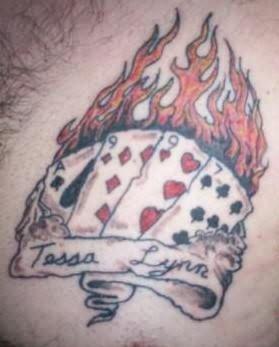 Burning Cards Tattoo