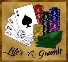 Life's A Gamble - Color Gambling Tattoo Design