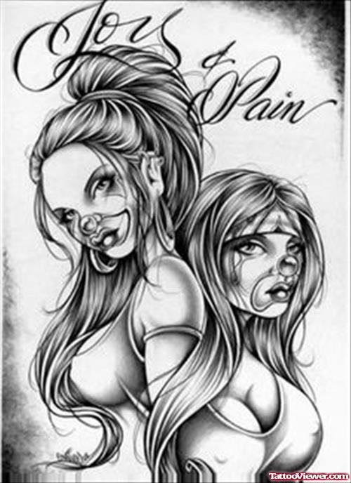 Gangsta Girls Tattoos Designs