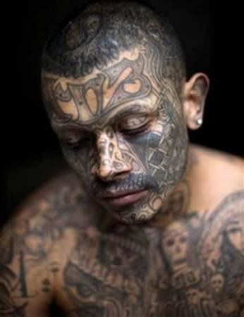 Man With Gangsta Tattoos