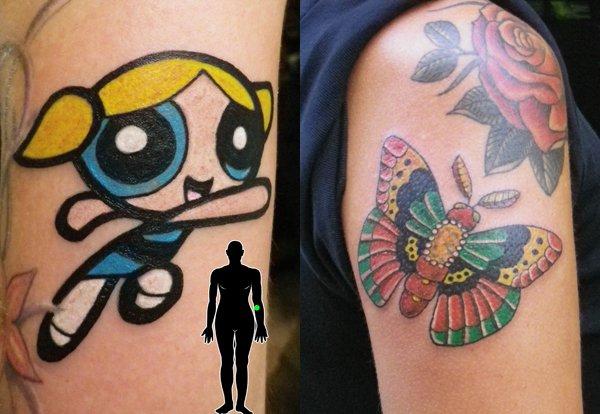 Power Puff Girl Tattoo Design