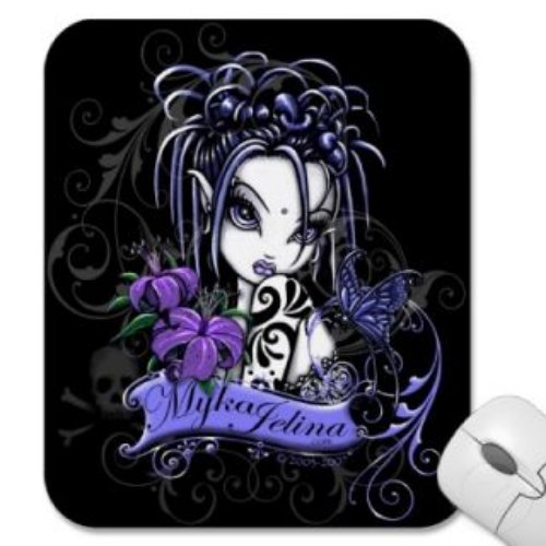Color Ink Gothic Girl Tattoo Design