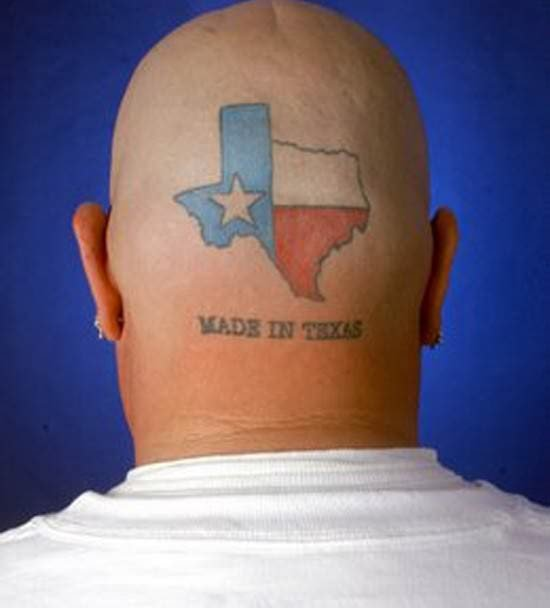 Texas Head Tattoos