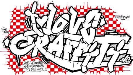 I Love Graffiti Tattoo