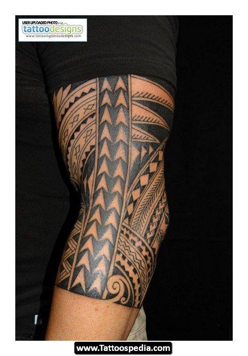 Classic Polynesian Half Sleeve Tattoo