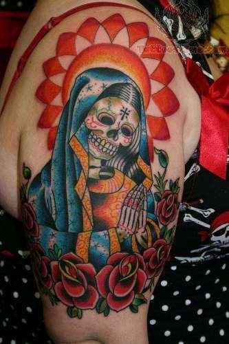 Skull Half Sleeve Tattoo
