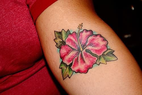 Amazing Hibiscus Tattoo