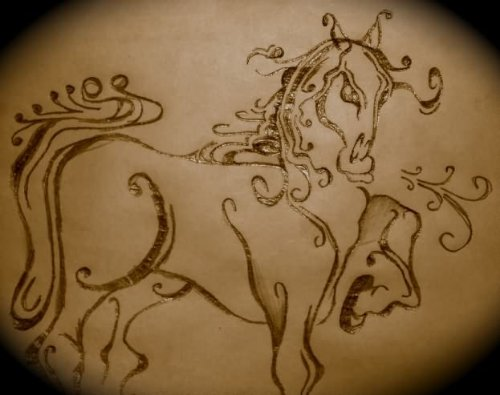Outline Horse Tattoo