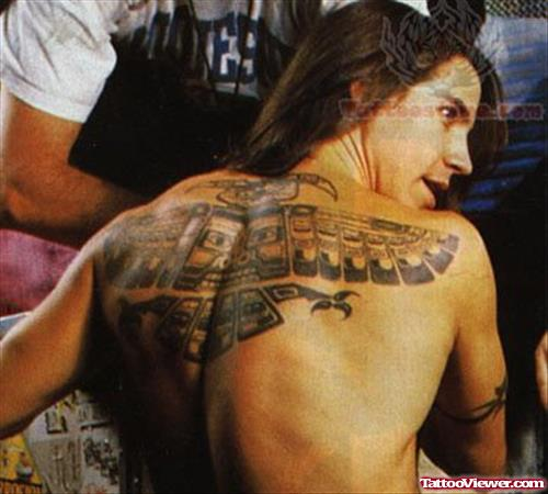 Large Indian Tattoo On Back